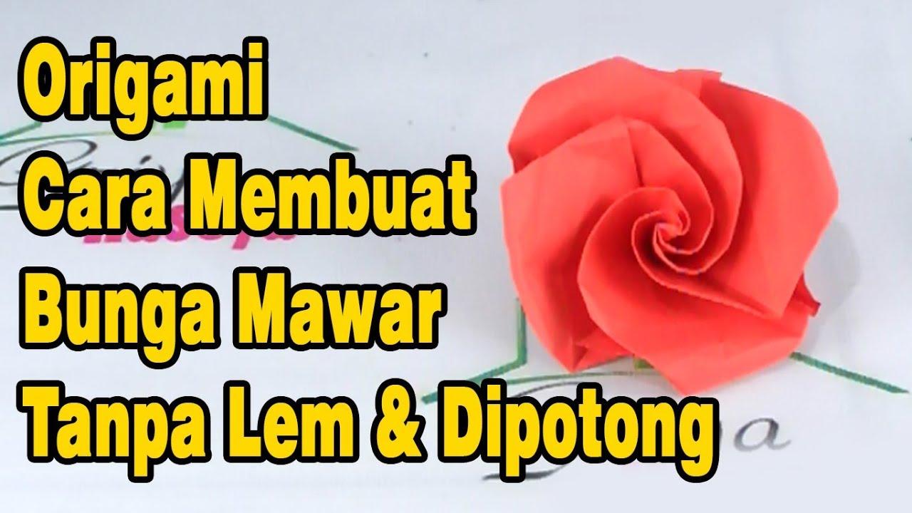 Cara Membuat Prakarya Bunga Mawar dari Kertas Buffalo | 720x1280