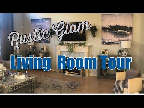 Rustic Glam Living Room Tour