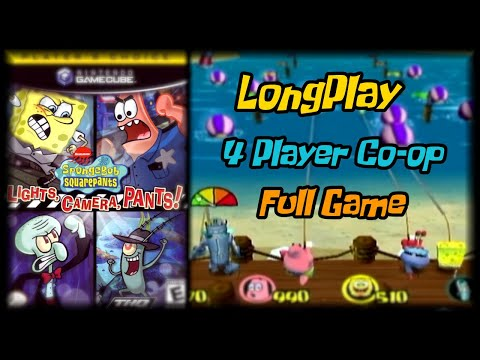 SpongeBob SquarePants: Lights, Camera, Pants! - Longplay (4 Player Co-op) Full Game Walkthrough