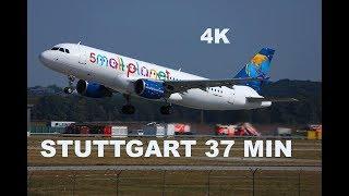 38 MIN Plane Spotting @ Stuttgart Airport STR, Landings, Take Offs and Taxis - 4K