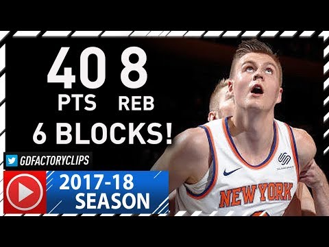 Kristaps Porzingis EPIC Highlights vs Pacers (2017.11.05) - Career-HIGH 40 Pts, 8 Reb, 6 Blocks!