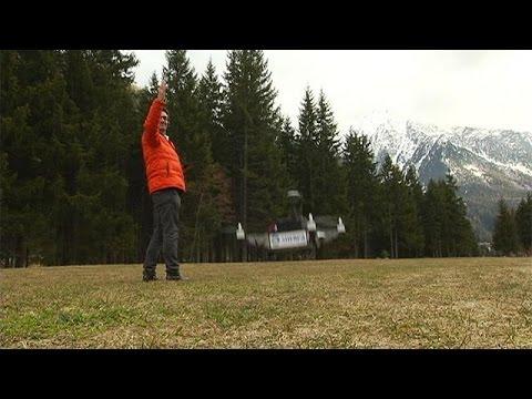 Uçan Drone Robotlar Alp Dağları'nda Hayat Kurtarıyor