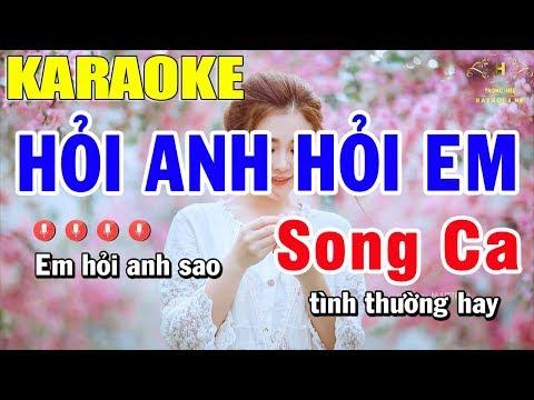 Karaoke Hỏi Anh Hỏi Em .T bằng giáp ft Hao Hao