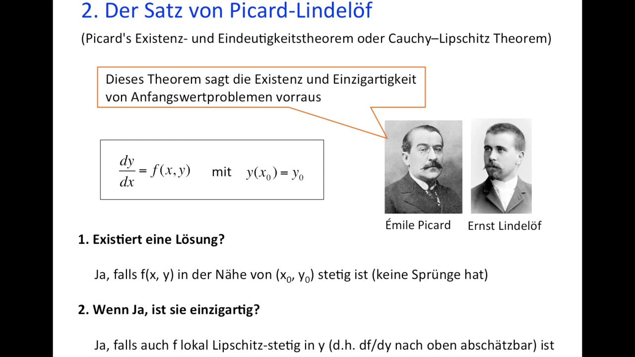 Der Satz Von Picard Lindeloef Youtube