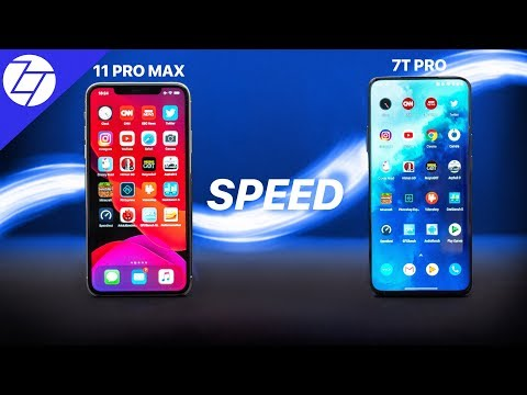 IPhone 11 Pro Max VS OnePlus 7T Pro - The ULTIMATE Speed Test!