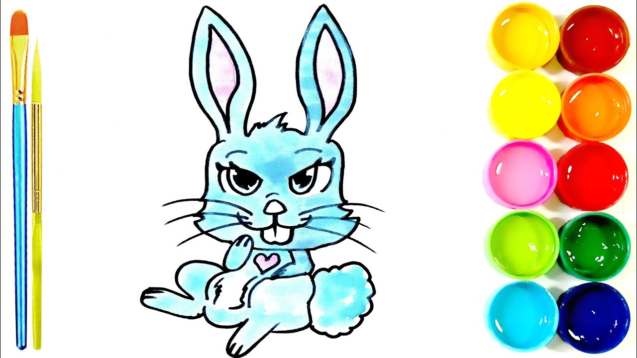 How to Draw and Color a Bunny Rabbits | easy | step by ...