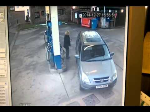 Woman Confused at Gas Pump w/Benny Hill