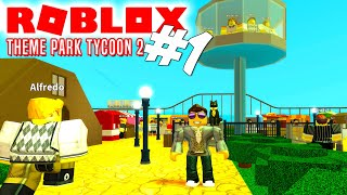THE NEW PARK! -Roblox Theme Park Tycoon 2 English Ep 1 with ComKean