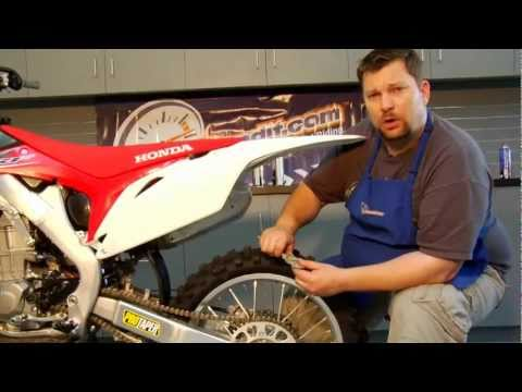 Dirt Bike Chain Adjustment And Lubrication