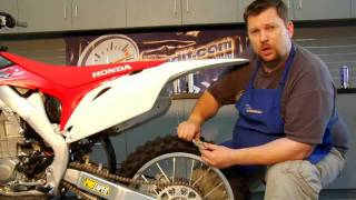 Dirt Bike Chain Adjustment and Lubrication