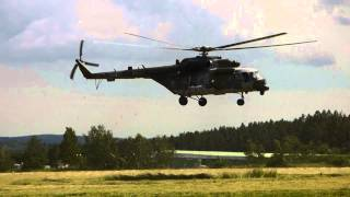 Dětský den v Hamrech -přistání vrtulníku 30.5.2015