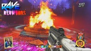RAVE IN THE REDWOODS - NO BOWS!!! TWO BOX EASTER EGG CHALLENGE GAMEPLAY! (INFINITE WARFARE ZOMBIES)