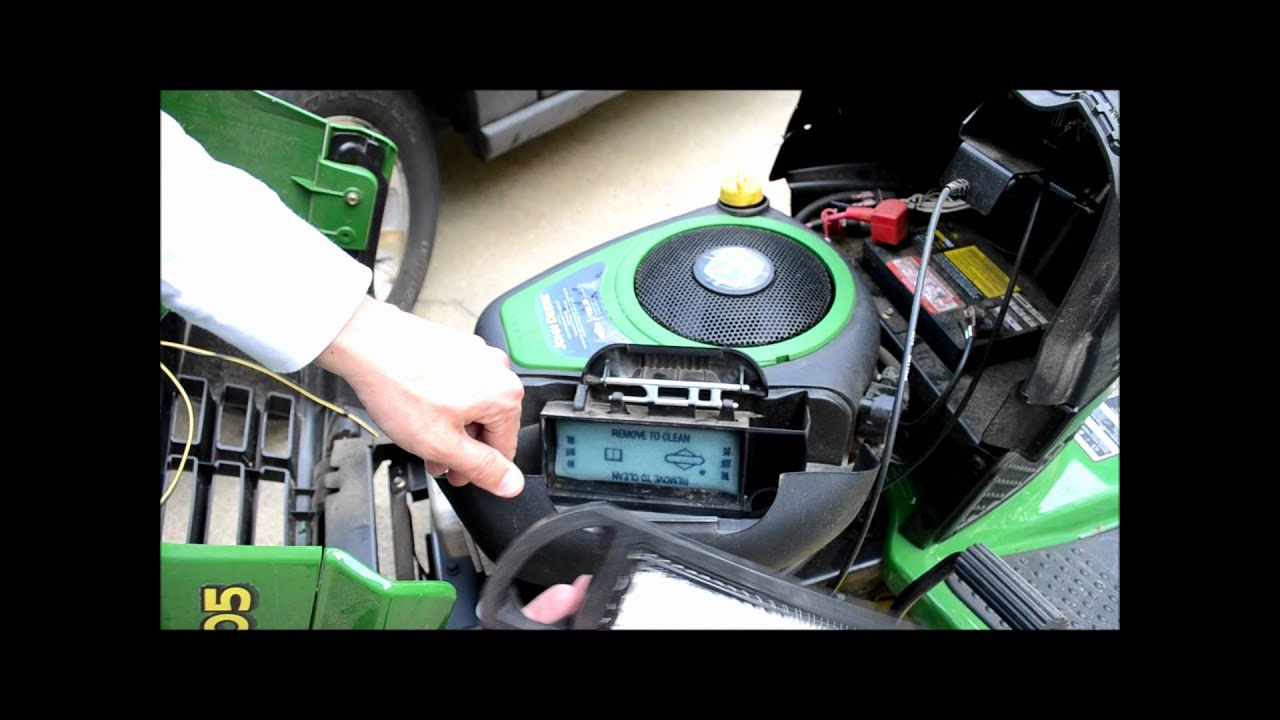 John Deere Lawn Tractor Tune Up Step 2 Of 5 Air Filter