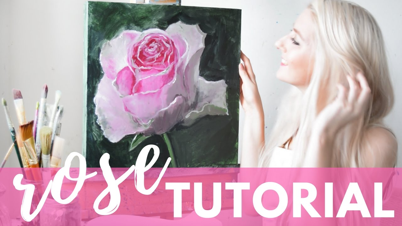 Painting Tutorial Acrylic Rose Techniques