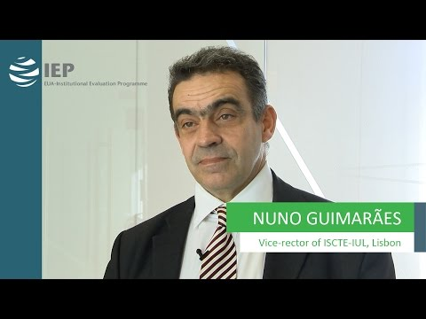 Institutional Evaluation Programme (IEP) - Nuno Guimarães, Vice-Rector of ISCTE-IUL, Lisbon