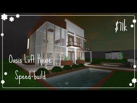 Bloxburg - Oasis Loft House Speed build