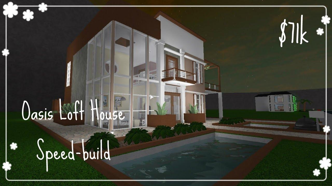 Bloxburg Oasis Loft House Speed Build Youtube