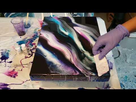 Simple Resin Swipe / Fluid Art / Epoxy Resin Art / Abstract Art
