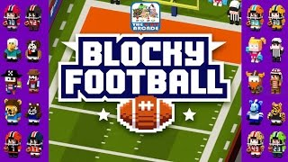 Blocky Football - Dodge the D, Score a TD and kick the PAT (iPad Gameplay, Playthrough)