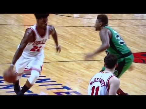 Best call in NBA history, NOT rigged whatsoever - Jimmy Butler Phantom Foul vs Celtics 2017