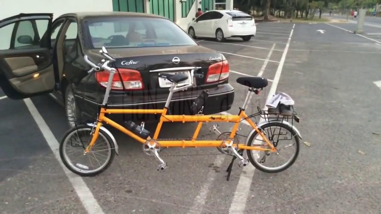 Folding Tandem Bike KHS T20 จักรยานสองตอนพับได้ (HD)