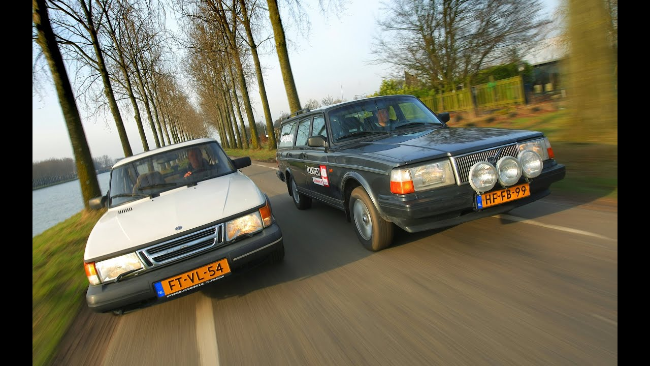 Occasion dubbeltest - Saab 900 vs Volvo 240 - YouTube