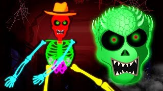 Fun Glowing Skeletons Finger Family Rhymes and Learn Colors For Kids by Teehee Town