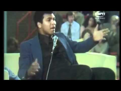 Muhammad Ali giving an amazing speech