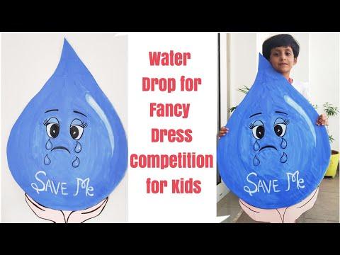 diy-a-drop-of-water-for-fancy-dress-competition/-water-drop-as-fancy-dress/-save-water-fancy-dress