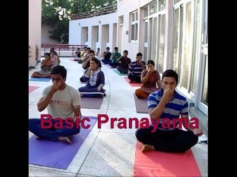 Basic Pranayama for Beginners   Yoga Breathing exercise   Yoga at ISRO