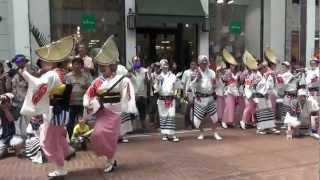 2012 8.15 徳島阿波おどり  阿呆連の輪踊りに駆けつけたが... thumbnail