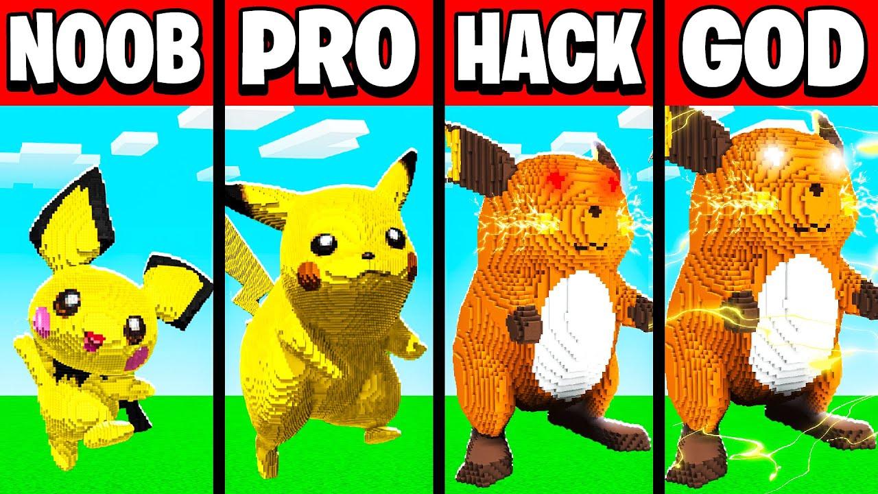 Minecraft Battle NOOB vs PRO vs HACKER vs GOD PIKACHU CHALLENGE in Minecraft