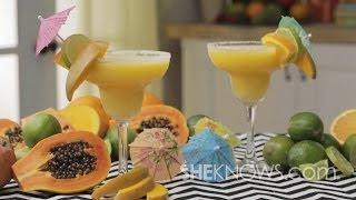 Skinny Frozen Mango Margarita