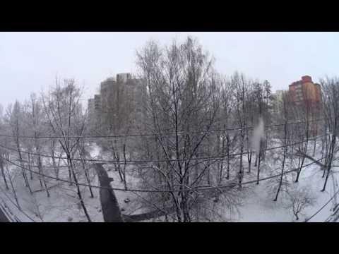 1 hour | Snowy day in Ostrava-Poruba, Czech Republic