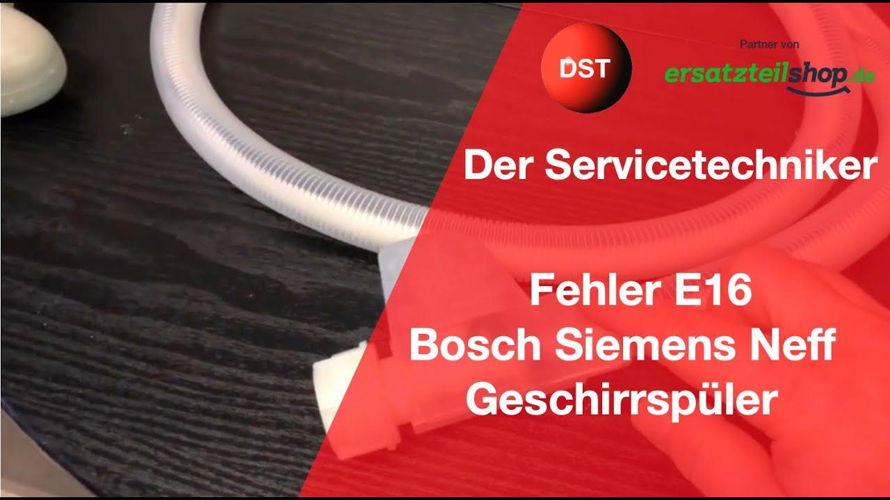 E16 Bosch Siemens Wasserzulauf Ohne Ansteuerung Des Zulaufventiles