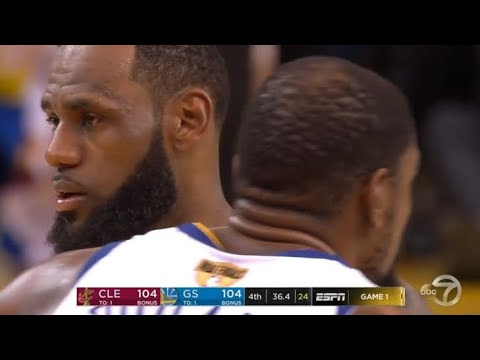 Final Minutes Game 1 Cavaliers vs Warriors 2018 Playoffs NBA Finals