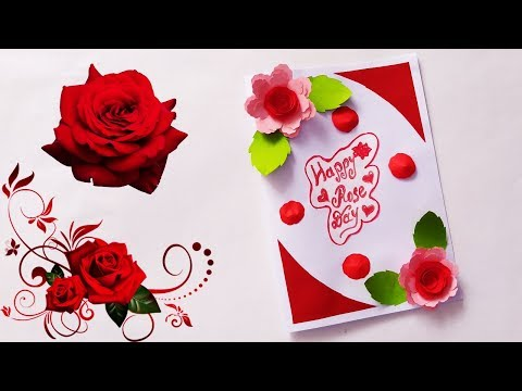 Rose day special card | How To Make A Rose Flower Valentine's day card | greeting cards ideas