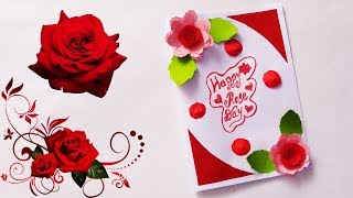 Rose day special card | How To Make A Rose Flower Valentine