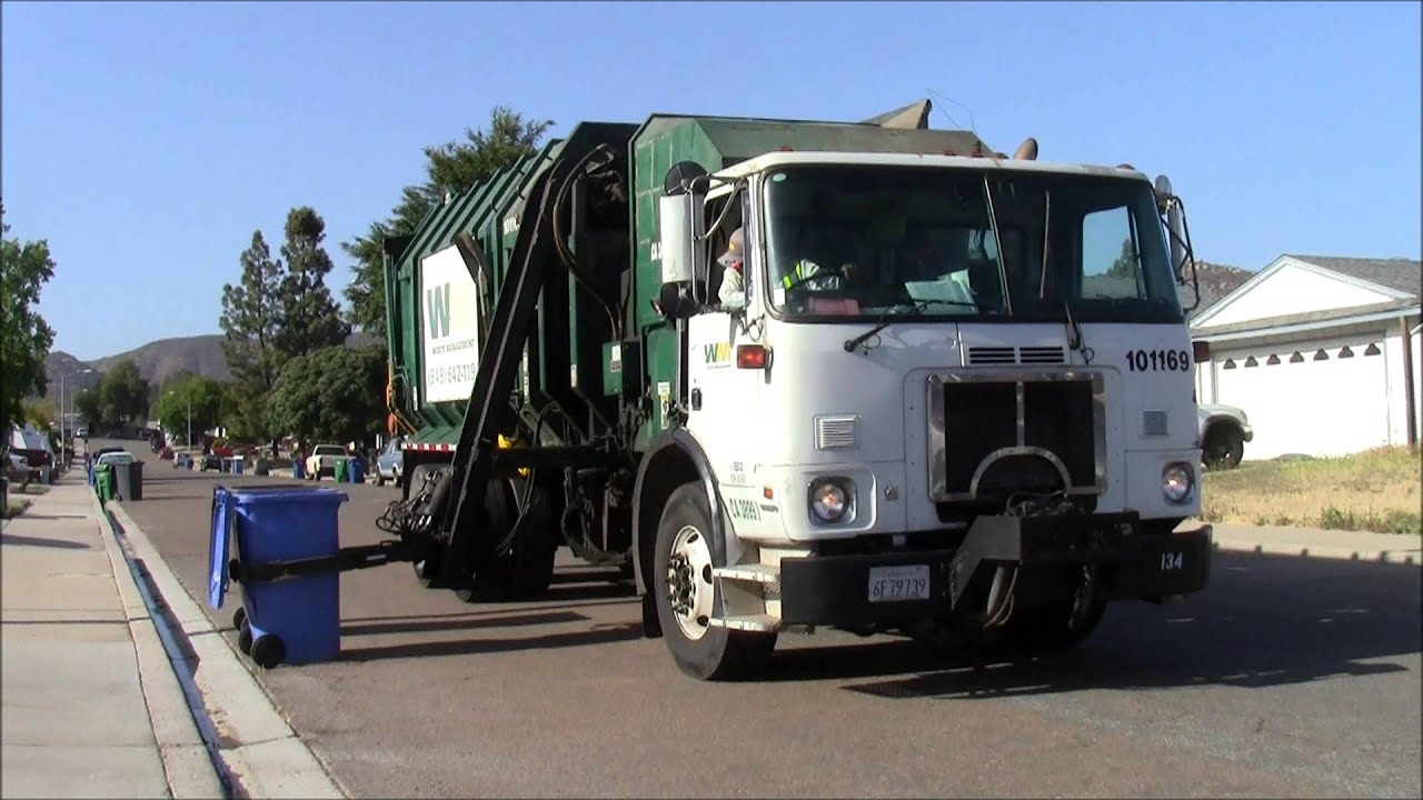 Waste Management Garbage Trucks Youtube
