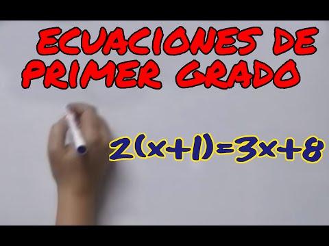 Aprende matemáticas: ecuaciones de primer grado de YouTube · Duração:  9 minutos 55 segundos
