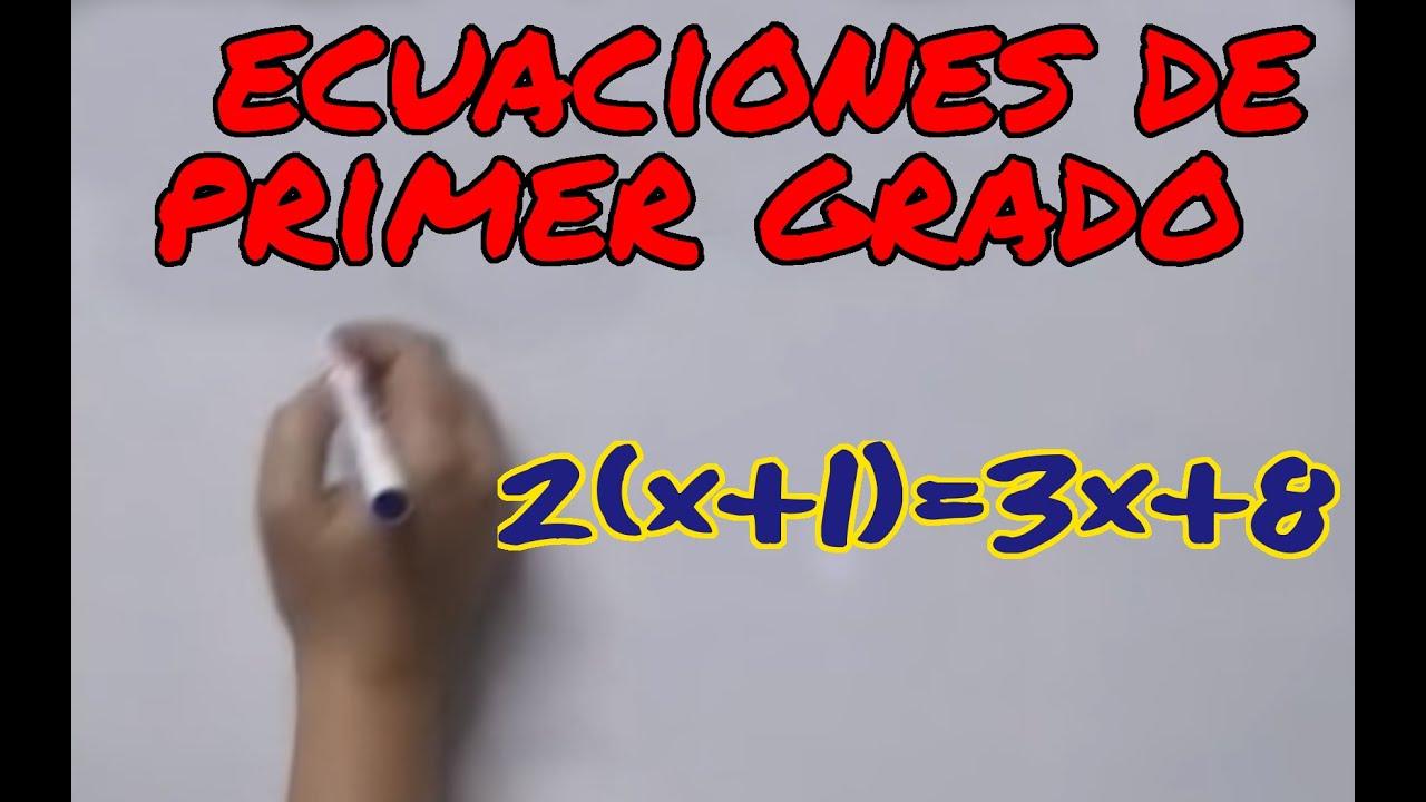 Aprende Matemáticas Ecuaciones De Primer Grado Youtube