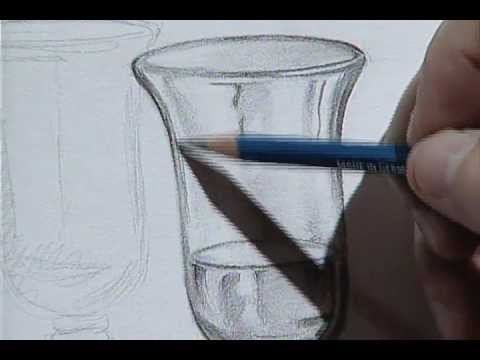 How to draw a wine glass 3 c mo dibujar una copa de for Copas de cristal