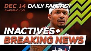 NBA DFS Picks - Tue 12/10 - Deeper Dive & Live Before Lock