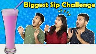 One Sip Challenge | Funny Food Challenge | Hungry Birds