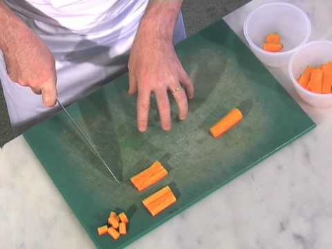 Basic Cuts Of Vegetables Jardiniere Youtube
