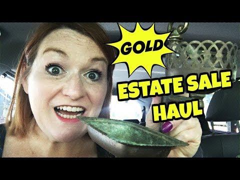 SILVER & GOLD Garage Sale & Estate Sale Haul 2018 – Jewelry & Vintage Treasures