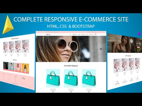How To Make Online Store E-commerce Responsive Website Using HTML CSS And Bootstrap