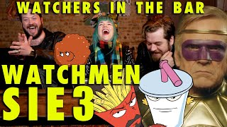 """WATCHMEN 1x3 """"She Was Killed By Space Junk"""" RECAP! Watchers in the Bar"""