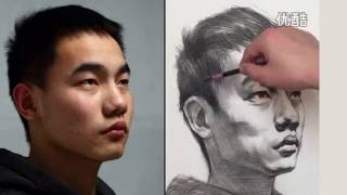 Drawing a Portrait of Young man #2 | Time-Lapse