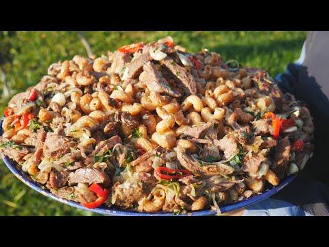 Жареные макароны по-Армянски с говядиной и яйцом,приготовила на целую деревню!